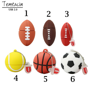 Kl ' úč USB Flash Disk 64 GB 32 G 16 G 8G 4G Flash Futbal, Basketbal, Rugby Model Pero Jednotky USB 2.0 Flash Karty Fre