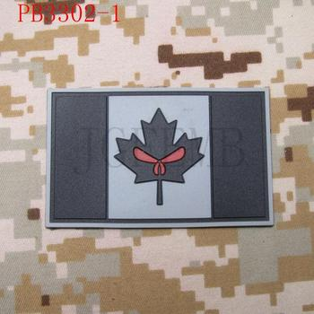 Kanada Červený Javor punisher vlajka 3D PVC patch